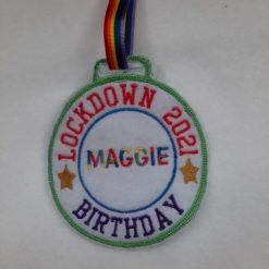 Lockdown Birthday 2021 medal