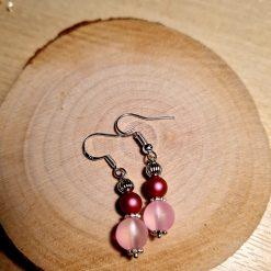 Swarovski pearl & frosted glass earrings 6