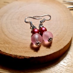 Swarovski pearl & frosted glass earrings 7