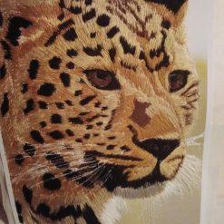 amur leopard thread painting. Artwork. Home decore 6