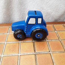 Hand painted ceramic tractor blue(Copy)