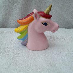 Hand painted ceramic unicorn money box