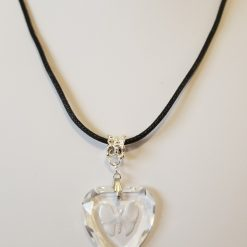 Butterfly in  Heart Crystal Necklace