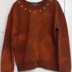 Ladies tie-dyed studded sweatshirt size 8