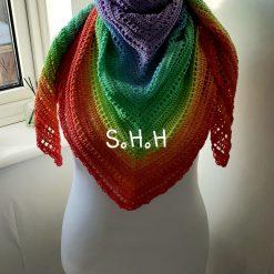 Rainbow Sherbet - Shawl
