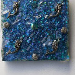 Glittering Mermaid Resin Tile