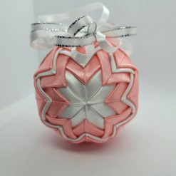Its a girl pink and white hanging ornament