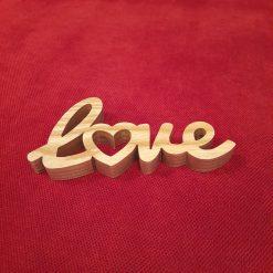Wooden word - Love (heart)