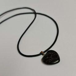 A beautiful sterling silver necklace with a semi precious cherry quartz gemstone heart