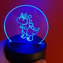 Cute LED light dinosaur