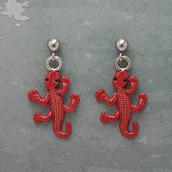-Individually Priced- Gecko, Necklace, Earrings JewellerySet  Tibetan Silver Charm Birthday Christmas Mothers Mother's Day Valentine Anniversary Easter Gifts Lizard Gift Set Ideas