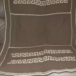 Hand-made knitted blanket