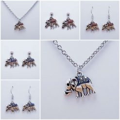 -Individually Priced- Elephant Necklace, Earrings Jewellery | Tibetan Silver Charm Birthday Christmas Mothers Mother's Day Valentine Anniversary Easter Gifts Gift Set Ideas