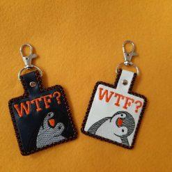 WTF Penguin key chain