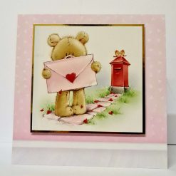 A beautiful 8x8 inch Valentines day card