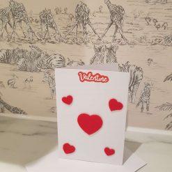 Felt Heart Valentine's Card