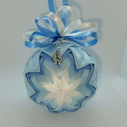 Its a boy! Blue and white hanging ornament