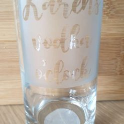 Etched glasses £6