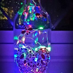 Beautiful Upcycled Clear Glass Wine Light Bottle
