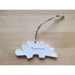 Personalised Dinosaur Ceramic gift tag