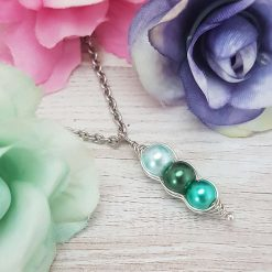 -Birthstone Family- Peas in Pod Necklace| Personalised Birthday Christmas Mothers Mother's Day Valentine Anniversary Easter Pea Jewellery Gift Ideas | Charming Gifts 5