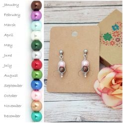 -Birthstone Family- Peas in Pod Earrings| Personalised Birthday Christmas Mothers Mother's Day Valentine Anniversary Easter Pea Jewellery Gift Ideas | Charming Gifts