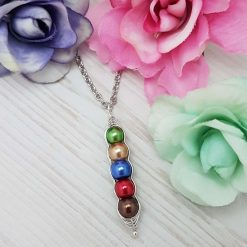 -Birthstone Family- Peas in Pod Necklace| Personalised Birthday Christmas Mothers Mother's Day Valentine Anniversary Easter Pea Jewellery Gift Ideas | Charming Gifts 7