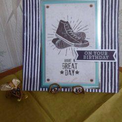 Baseball Boots Birthday Card