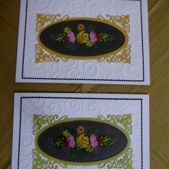 Canal Boat Art Any Occasion Card x 2