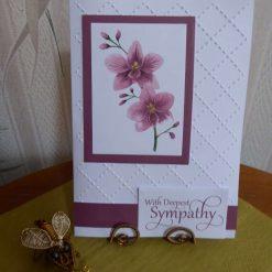 z SOLD Flower Sympathy Card (2)