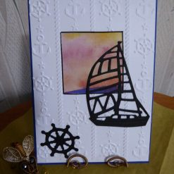 z sold : Yacht Sunset & Anchor Any Occasion Card