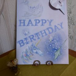 Corner Bookmark Animal Birthday Card - Unicorn