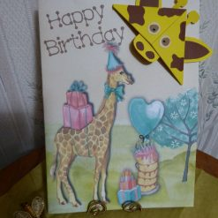 Corner Bookmark Animal Birthday Card - Giraffe