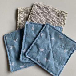 Fabric Jar/Bottle Opening Aid - Blue Robins