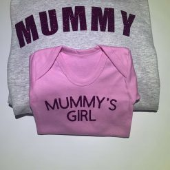 Mummy hoodie and babies vest option