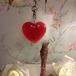 Beautiful red heart key chain