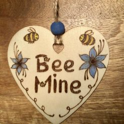 Pyrography and Paint Valentines Wooden hanging Hearts