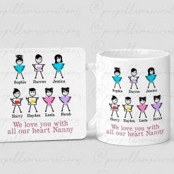Personalised We Love You Mug and Coaster Set