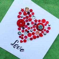Valentine's card, unique design.