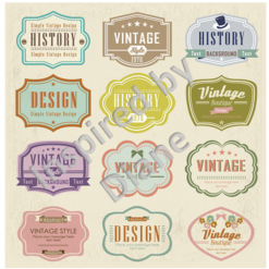 Art Stickers, Sticker for Wall, Furniture and DIY Projects - Decal- Transfer- Vintage - Shabby Chic - French - Retro - Labels Tags /360