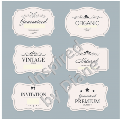 Clear Art Stickers, Sticker for Wall, Furniture and DIY Projects - Decal- Transfer- Vintage - Shabby Chic - French - Retro - Labels Tags /369