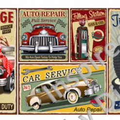 Clear Art Stickers, Sticker for Wall, Furniture and DIY Projects - Decal- Transfer- Vintage - Shabby Chic - French - Retro - Cars Car /370