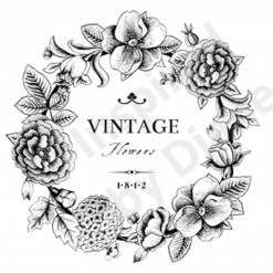Clear Art Stickers, Sticker for Wall, Furniture and DIY Projects - Decal- Transfer- Vintage - Shabby Chic - French - Retro - Flowers /373