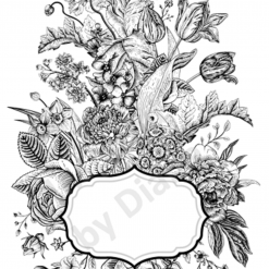 Clear Art Stickers, Sticker for Wall, Furniture and DIY Projects - Decal- Transfer- Vintage - Shabby Chic - French - Retro - Flowers /375