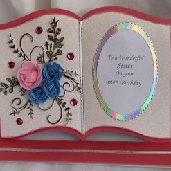 Book Easel Card bride and groom Wedding day