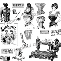 Clear Art Stickers, Sticker for Wall, Furniture and DIY Projects - Decal- Transfer- Vintage - Shabby Chic - French - Retro -Dress Making / 385