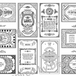 Clear Art Stickers, Sticker for Wall, Furniture and DIY Projects - Decal- Transfer- Vintage - Shabby Chic - French - Retro - Labels Tags /388