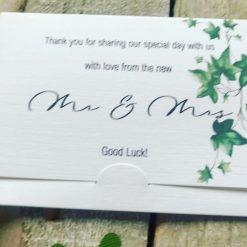 30 Wedding Ticket Holders, free uk postage