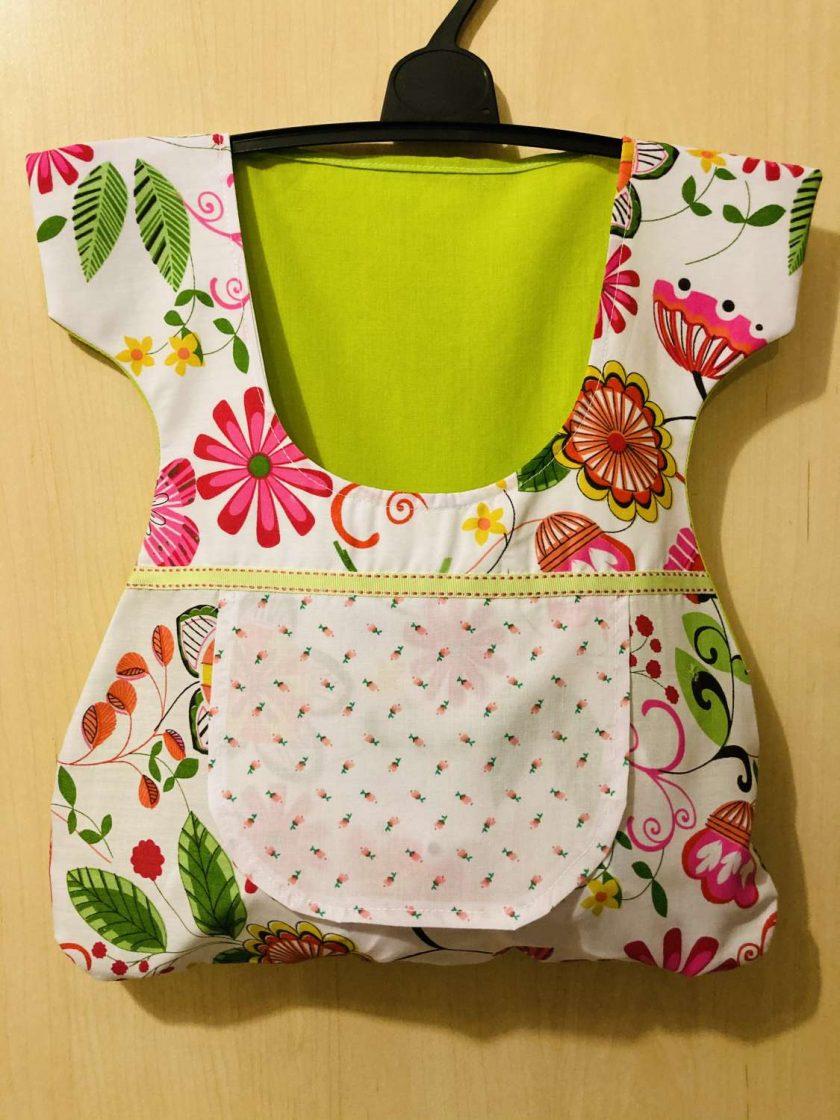 peg bag dress lime