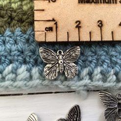 10 x Dragonfly Tibetan silver charms - 2cm